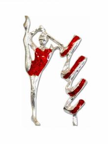 Значок - гимнастка Pastorelli